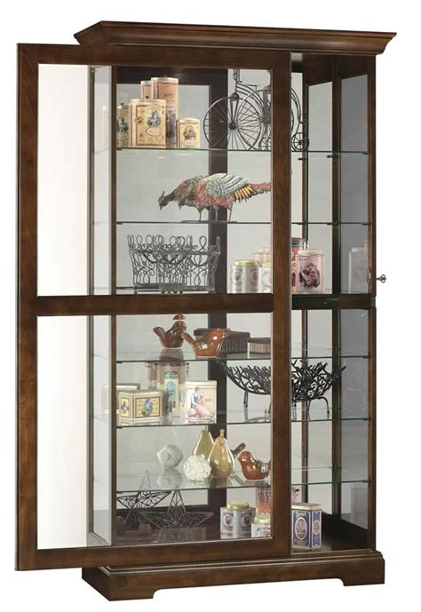 sliding door display cabinet howard miller cherry large curio display cabinet sliding
