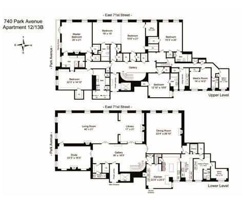 park avenue   york apartment floor plan nice