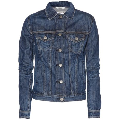 lace sweater gray rag bone medium indigo the jean denim jacket my fashion