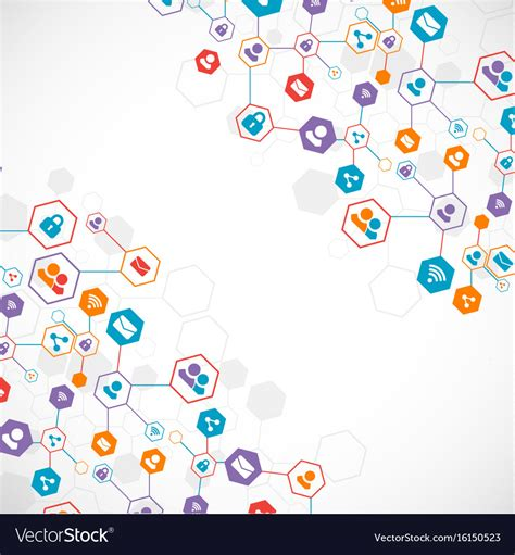 Social Media Background Social Media Background Network Concept Royalty Free Vector