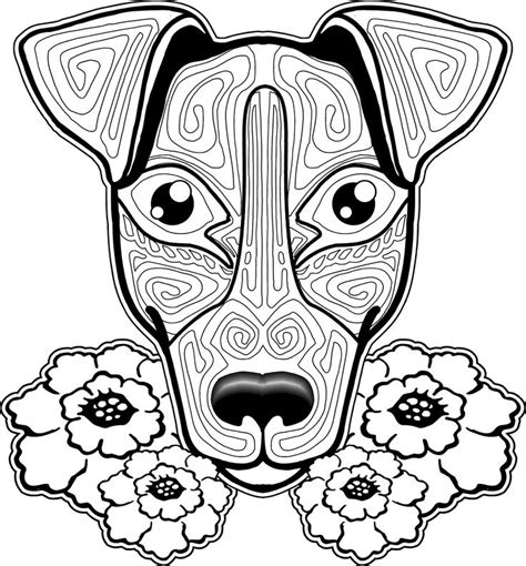 dog coloring pages  adults images  pinterest coloring books coloring pages