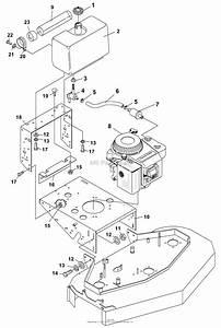 Bunton  Bobcat  Ryan 934003 14 Hp Kawasaki 48 U0026quot  Side Discharge Parts Diagram For Engine  U0026 Fuel Tank