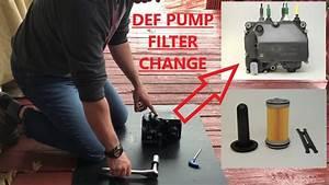 How To Change Def   Diesel Exhaust Fluid   Pump Filter