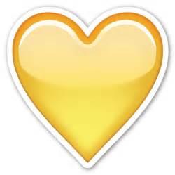 Transparent Yellow Heart Emoji
