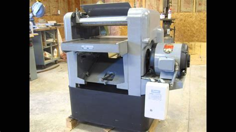 shop  series  rockwell  planer youtube