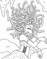 Coloring Cave Medusa Greek Netart Drawing Mythology Drawings Mermaid Creatures Sketch Painting Mythological Caveman Template sketch template