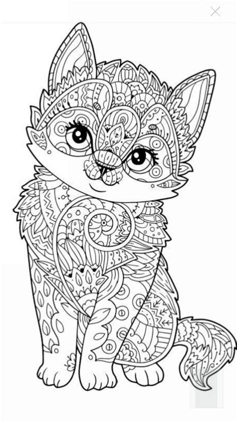 Cute kitten coloring page Coloriage chaton Coloriage