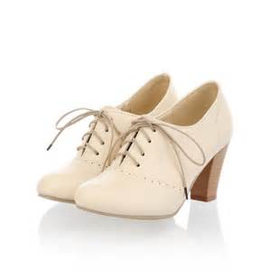 womens boots vintage style oxfords with heels freshfood