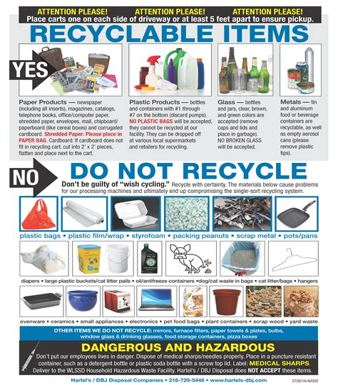 list of prohibited items recycling superior wi official website