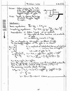 Solution Fluid Mechanics Problem