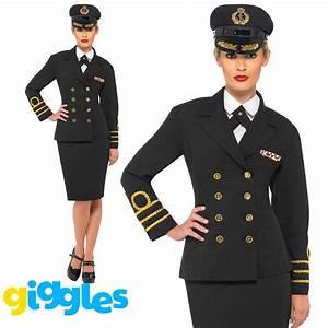 WW2 Navy Officer Costume 1940s Sailor Uniform Womens ...
