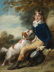 Dog Portrait Painting 18th Century