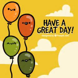 a great day greeting card vector free