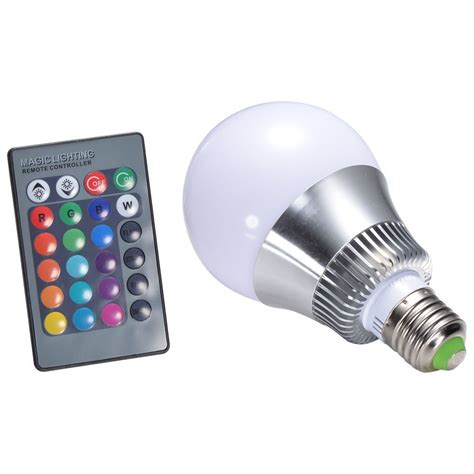 remote control color changing lights 10w e27 rgb led light bulb 24 key ir remote control led