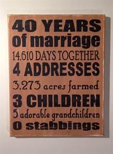 wedding anniversary gifts 40th wedding anniversary gifts With 40th wedding anniversary gifts for parents