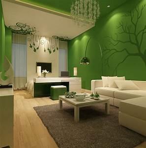 Wohnidee Wohnzimmer Richten Sie Ihr Wohnzimmer In Grn Ein