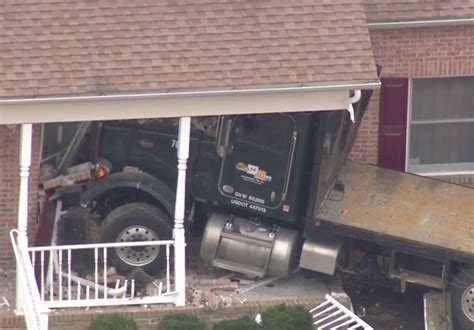 Two Hurt When Flatbed Truck Crashes Into New Jersey Home