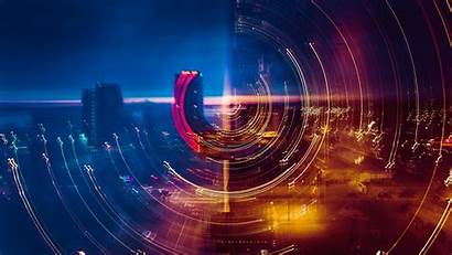 Exposure Wallpapers Night Lights Cityscape Circles Buildings