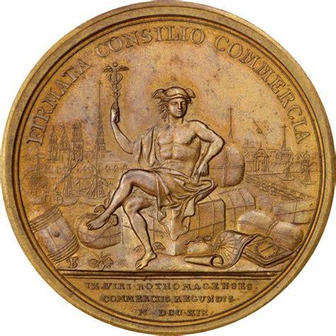 chambre commerce rouen 62866 louis xv médaille création de la chambre de