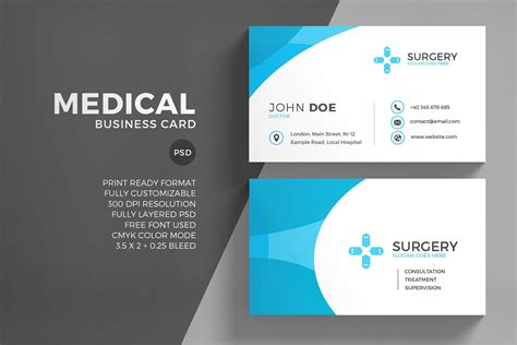 medical corporate business card business card templates