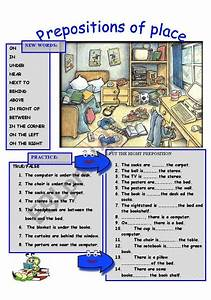 Prepositions Of Place Look At The Image And Put The Right