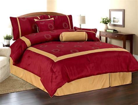 embroidery oversized comforter set queen burgundy gold ebay