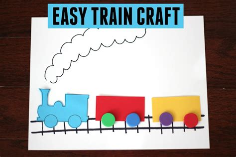Toddler Approved! Easy Train Craft For Kids