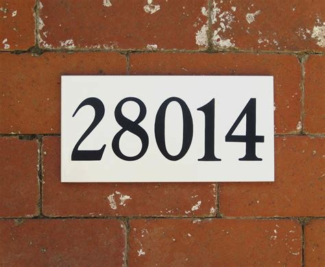 tile house numbers white or ceramic tile by cmbstudio