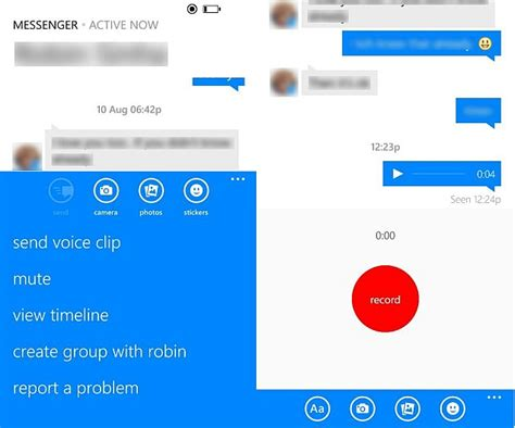 facebook messenger for windows phone gets emoticons and voice messages technology news