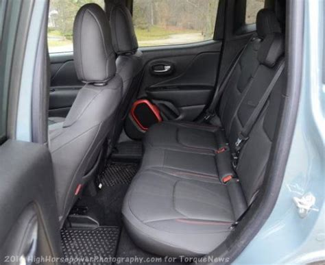 The Rear Seats Of The 2016 Jeep Renegade Trailhawk