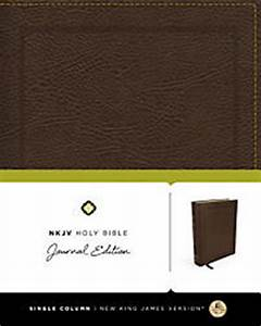 nkjv holy bible journal edition bonded leather brown With red letter journaling bible