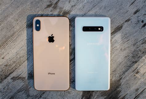 samsung galaxy s10 plus vs iphone xs max spec