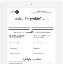 Printable Gratitude Journal Worksheet