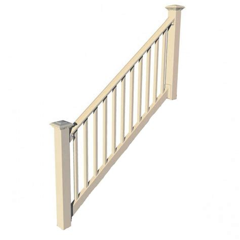 home depot banisters rdi original rail vinyl 8 ft x 36 in 32 38 176 stair rail