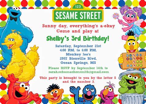 sesame invitations template free sesame birthday invitations bagvania free printable invitation template