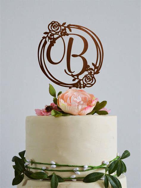wedding cake topper letter  initial cake topper letter