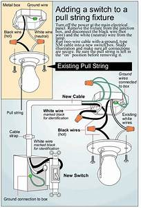 Changing Pull Switch Light To A Wall Switch - Electrical Wiring Forum