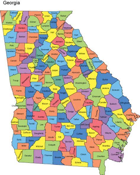 georgia map  counties