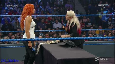 sexy alexa bliss becky lynch contract signing smackdown