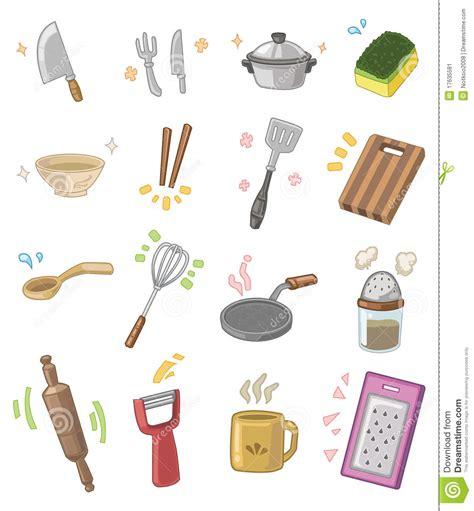 dessin ustensile de cuisine ustensiles de cuisine de dessin animé image stock image
