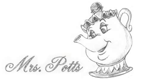 Speed Drawing Mrs. Potts From Disney Beauty And The Beast