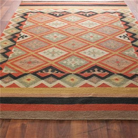 moroccan diamond dhurrie rug  colors shades  light