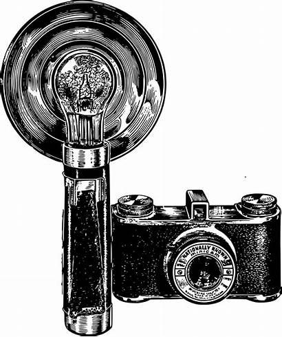Camera Flash Clipart Photographer Vieil Appareil Cameras