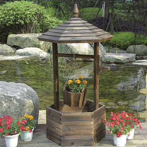 stonegate designs wooden wishing  planter model dsl