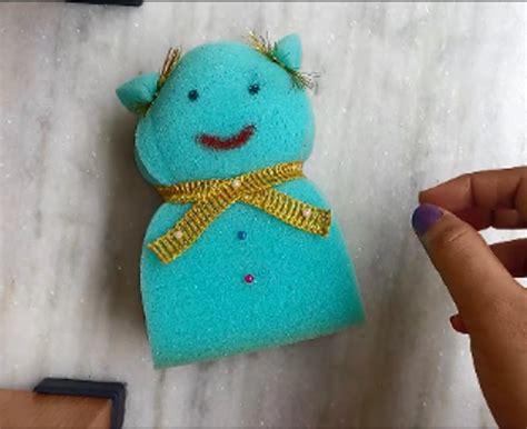 sponge doll making simple teddy bear crafts  kids