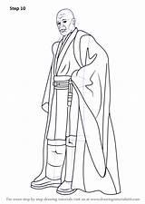 Coloring Printable Mace Windu Wars Pdf Draw Sci Fi Drawing Halo Zip sketch template