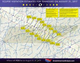 Tennessee Solar Eclipse 2017 Map