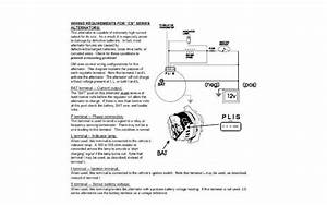 3 Wire Delco Alternator Wiring Diagram Tach Wire