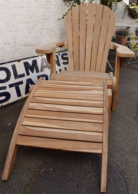adirondack chair with footrest in sofas chairs and stools