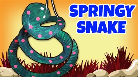 springy snake crafts ideas  kids easy